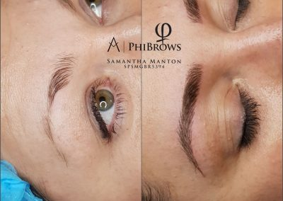 Before and After Microblading Dimensions Beauty Birmingham
